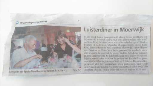 Luisterdiner Moerwijk - Posthoorn
